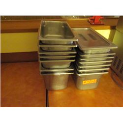 14 stainless steel inserts- 22 Gallon heavy duty