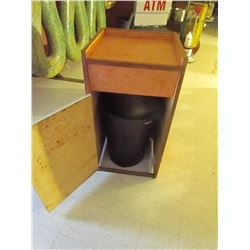 Garbage stand with barrel