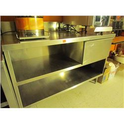 Stainless steel work station with drawer 30 X 54