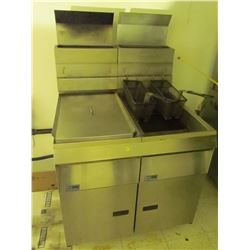 Pitco Friolator- double pit stainless steel 32 X 32 inch deep fyer