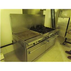 6 burner gas oven & grill. Imperial 60 X 32 double convection gas oven.