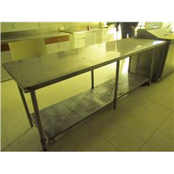 Stainless steel work table 96 inch X 30 inch