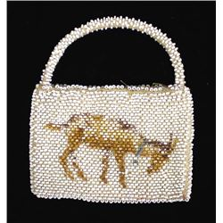 Vintage Czechoslovakian Beaded Change Purse