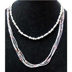 2 Navajo Sterling Silver Necklaces