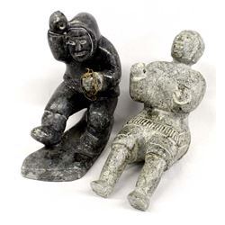 2 Canadian Inuit Stone Carvings