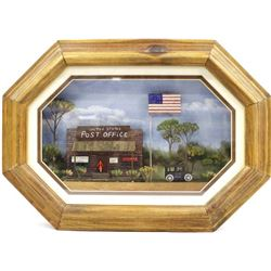 Framed United States Post Office Diorama