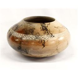 Horsehair Pottery Bowl by Carl Gray Witkop