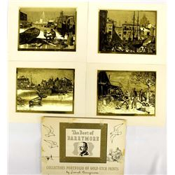 Portfolio of Gold-Etch Prints by Lionel Barrymore