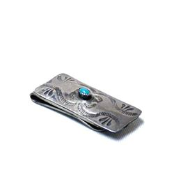 Navajo Old Pawn Turquoise Money Clip