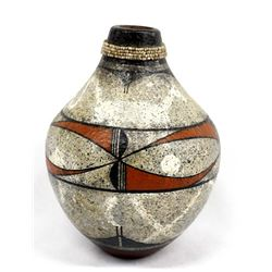 Native American Jemez Pottery Jar by R. Aragon