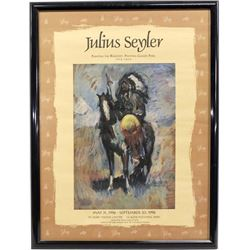 Julius Seyler Painting the Blackfeet Framed Poster