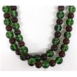 Beautiful Green and Red Glass Trade Beads