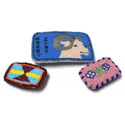 Native American Navajo Beaded Belt Buckles