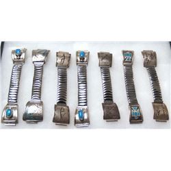 7 Native American Sterling Silver Watch Bands