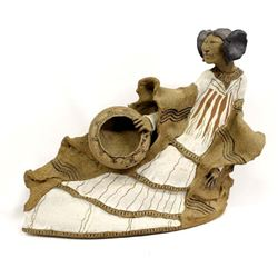 Large Stoneware Pottery Hopi Maiden by Douglas F.