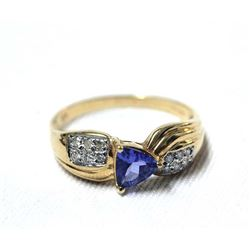 Levian 18K Yellow Gold Tanzanite Diamond Ring