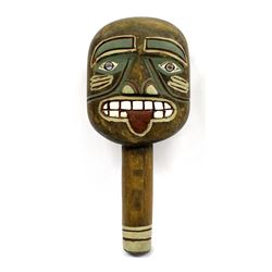 Northwest Coast Carved Wood Rattle