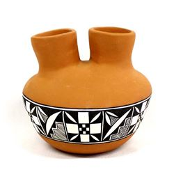 1987 Acoma Wedding Vase by Angelina Medina