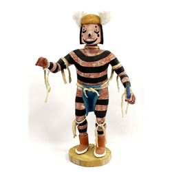 Hopi Koshare Clown Kachina by E. Adams