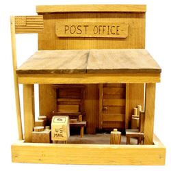 Wood Folk Art Miniature Post Office
