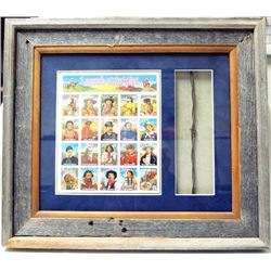 Framed Legends of the West Stamps