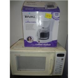 Panosonic Microwave with Rival Coffee Maker