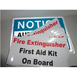 Lot of 10 Safety Signs