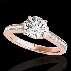 1.5 CTW H-SI/I Certified Diamond Solitaire Ring 10K Rose Gold - REF-236N4Y - 34926