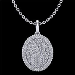 1 CTW Micro Pave VS/SI Diamond Necklace 14K White Gold - REF-90F9N - 20509