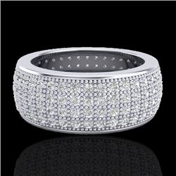 2.50 CTW Micro Pave VS/SI Diamond Eternity Ring 18K White Gold - REF-249T3M - 20883