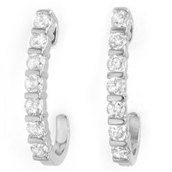 0.75 CTW Certified VS/SI Diamond Earrings 18K White Gold - REF-78H5A - 14000