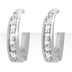 0.20 CTW Certified VS/SI Diamond Earrings 18K White Gold - REF-41W3F - 12771
