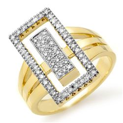 0.45 CTW Certified VS/SI Diamond Ring 10K Yellow Gold - REF-77A3X - 14481