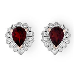 2.20 CTW Garnet Earrings 18K Rose Gold - REF-28M2H - 13590