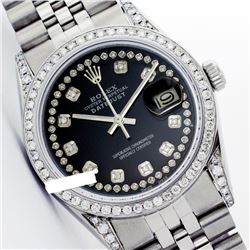 Rolex Ladies Stainless Steel, Diamond Dial & Diamond Bezel, Sapphire Crystal - REF-467K7T
