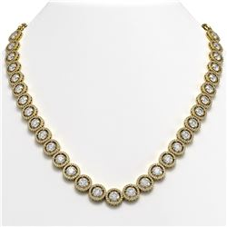 35.32 CTW Diamond Designer Necklace 18K Yellow Gold - REF-5509N8Y - 42670