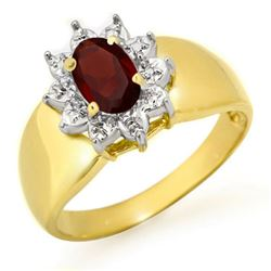 0.50 CTW Garnet Ring 10K Yellow Gold - REF-15A6X - 12663