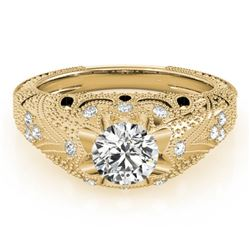 0.97 CTW Certified VS/SI Diamond Solitaire Antique Ring 18K Yellow Gold - REF-226T2M - 27266