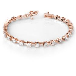 5.0 CTW Certified VS/SI Diamond Bracelet 14K Rose Gold - REF-502H3A - 10088