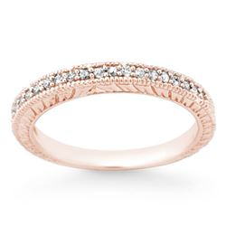0.20 CTW Certified VS/SI Diamond Ring 14K Rose Gold - REF-33K5W - 13652