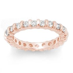 1.25 CTW Certified VS/SI Diamond Ring 14K Rose Gold - REF-91M3H - 11722
