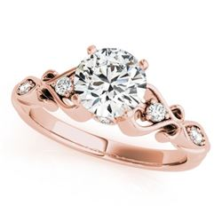 0.65 CTW Certified VS/SI Diamond Solitaire Antique Ring 18K Rose Gold - REF-121X6T - 27418