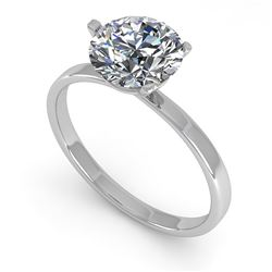 1.51 CTW Certified VS/SI Diamond Engagement Ring 18K White Gold - REF-524H8A - 32238