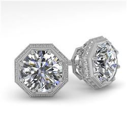 1.53 CTW Certified VS/SI Diamond Stud Earrings 18K White Gold - REF-316A8X - 35970
