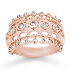 0.83 CTW Certified VS/SI Diamond Ring 14K Rose Gold - REF-87Y3K - 14144