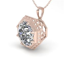 1 CTW VS/SI Diamond Solitaire Necklace 18K Rose Gold - REF-284A3X - 35993