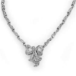 2.50 CTW Certified VS/SI Diamond Necklace 14K White Gold - REF-276W2F - 14350