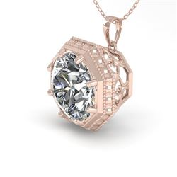 1.50 CTW Certified VS/SI Diamond Necklace 18K Rose Gold - REF-525W6F - 36008