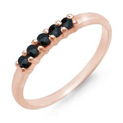 0.25 CTW Blue Sapphire Ring 10K Rose Gold - REF-9M3H - 12590