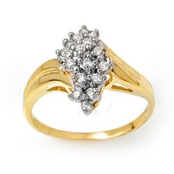 0.25 CTW Certified VS/SI Diamond Ring 10K Yellow Gold - REF-26A2X - 14289